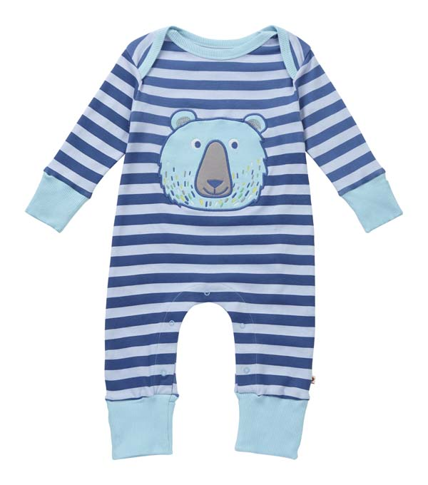 Piccalilly Bear Applique Playsuit